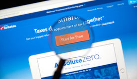 page Web de turbotax Photos libres de droits