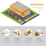 Page web design template Set of flat vector web banners on the theme of Logistics, Warehouse, Freight, Cargo Stock Photos