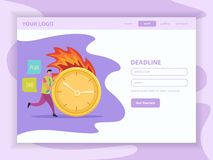 Page Web plate d'atterrissage de date-butoir illustration de vecteur