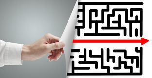 Free Page With Maze Stock Photography - 34022582