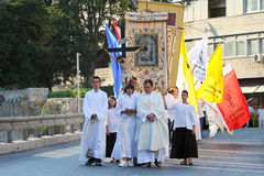 Pageantry for Assumption of Mary Stock Images