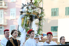 Pageantry for Assumption of Mary Stock Image