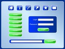PageBlueSet Royalty Free Stock Image
