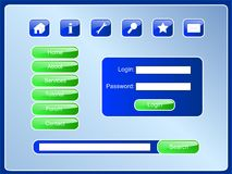 PageBlueSet Lizenzfreies Stockbild