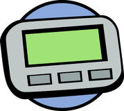 Pager or beeper vector illustration Stock Photography