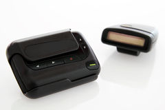 Pager is communication old. Stock Image