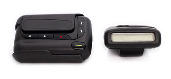 Pager is communication. Stock Image