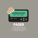 Pager The Old Wireless Telecommunication Technology. Vector Illustration Royalty Free Stock Photo