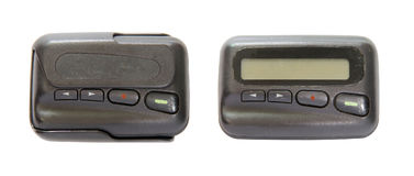 Pager, telecommunication in olden with clipping path Royalty Free Stock Image