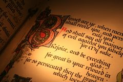 Pages 3 de bible Photographie stock