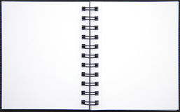 Pages blanc d'un carnet Photographie stock
