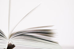 Pages of a book. Grey Stock Photo