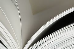 Pages in a book. With shallow dof Royalty Free Stock Photos
