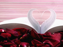 Pages of a book. Curved into a heart shape Royalty Free Stock Photo