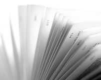 Pages of a Book. Open Book Pages in Black and White royalty free stock photos