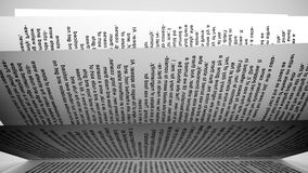 Pages of a book. stock video footage