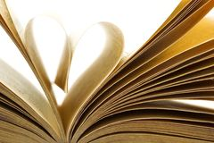 Pages of a book folded in to a heart shape Stock Photography