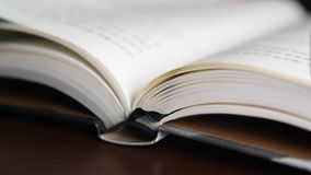 Pages of a book turning.  stock footage