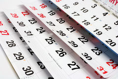 Pages of Calendar Stock Photography