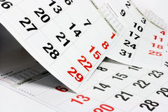 Pages of Calendar Royalty Free Stock Photography
