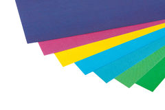 Pages of colored paper Stock Images