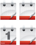 Pages d'icône de calendrier Image stock