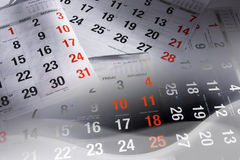 Pages de calendrier Images libres de droits
