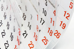 Pages de calendrier Photos libres de droits