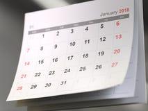 Pages de calendrier, concept de temps images libres de droits