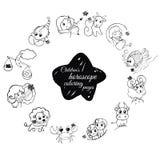 Pages de coloration d'horoscope des enfants s Image stock