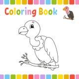 Pages de livre de coloriage pour des enfants Illustration mignonne de vecteur de bande dessin?e illustration stock