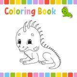 Pages de livre de coloriage pour des enfants Illustration mignonne de vecteur de bande dessin?e illustration libre de droits