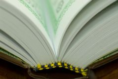 Pages de Quran Photo libre de droits