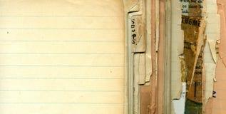 Pages de recette de cru Photographie stock