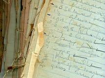 Pages de recette de vintage images libres de droits