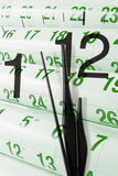 Pages et horloge de calendrier Images stock