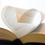 Pages folded into a heart shape Stock Image