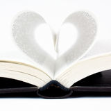 Pages folded into a heart shape Royalty Free Stock Photo