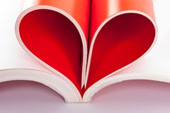 Pages in heart shape Royalty Free Stock Image