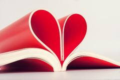 Pages in heart shape Stock Photos