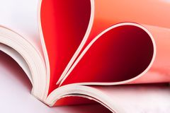 Pages in heart shape Stock Images