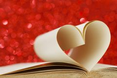 Pages in heart shape Royalty Free Stock Photo