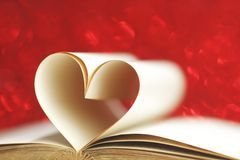 Pages in heart shape Royalty Free Stock Images