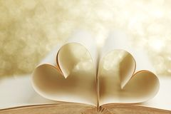 Pages in heart shape Stock Photo