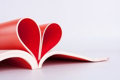 Pages in heart shape Stock Photography