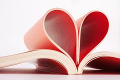 Pages in heart shape Royalty Free Stock Photography