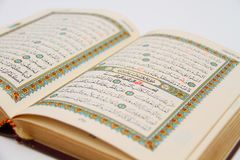 Pages of The Holy Book Of Quran Royalty Free Stock Image