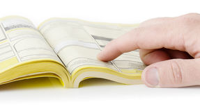 Pages jaunes Image libre de droits