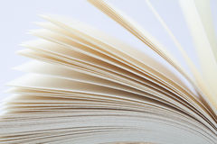 Pages. Macro view of book pages royalty free stock image