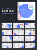 24 Pages Multi-Purpose Business Brochure Set. 24 Pages, Detailed Presentation of Multi-Purpose Business Brochure Set with abstract circles Royalty Free Stock Photo